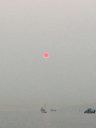 Smoky Surreal Sunset