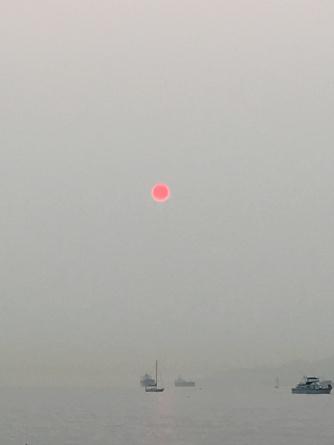 Smoky Surreal Sunset