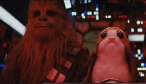 The Last Jedi Wookie and Porg