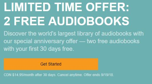 Audible Canada Offer
