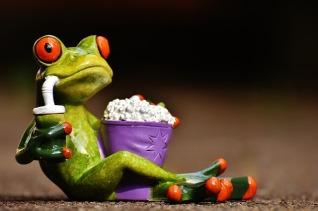 frog with popcorn Pixabay