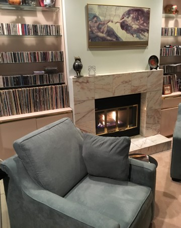 Armchair by the Fireplace