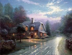 Thomas Kinkade Moonlight Lane